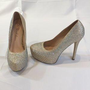 De Blossom collection prom diamond heels